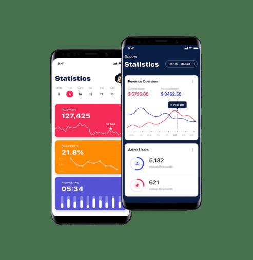 image statistiques smartphone